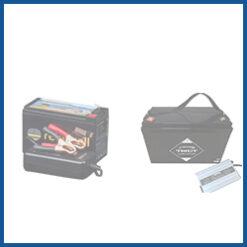 Elektromotor-Akkus + Ladegerät